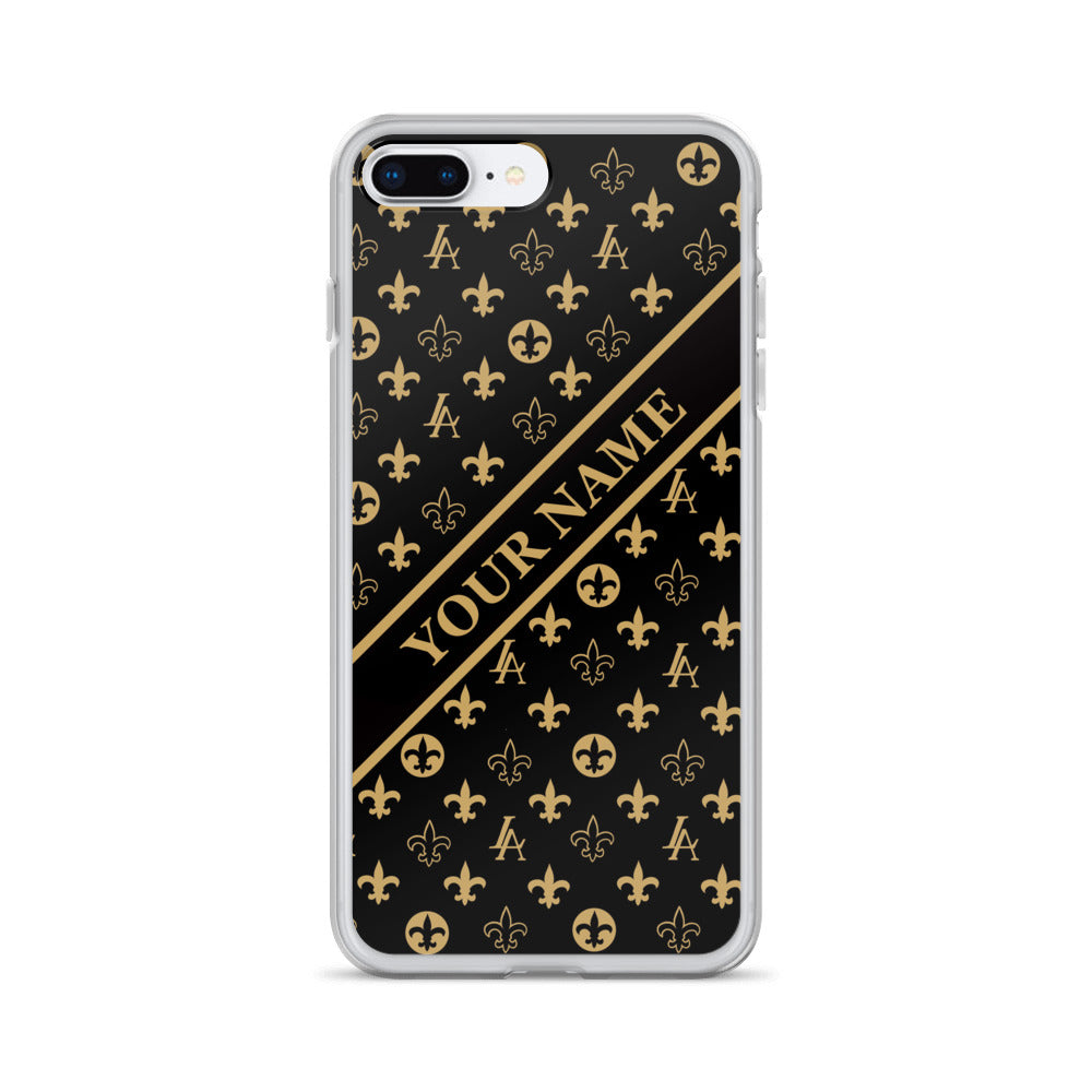 "Custom made name New Orleans Saints Louisiana Elegance ""Louis"" iPhone Case"