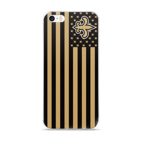 New Orleans Saints American Flag iPhone Case 5 / 5S / 5SE / 6 / 6S / 7 / 8 / PLUS / X