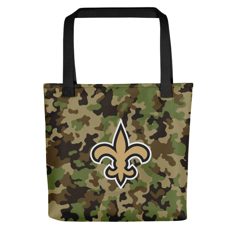 New Orleans Saints Louisiana camouflage Tote bag