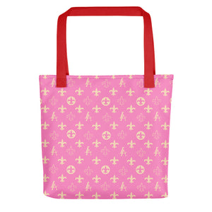 "PINK New Orleans Saints Louisiana Elegance ""Louis"" Tote bag"