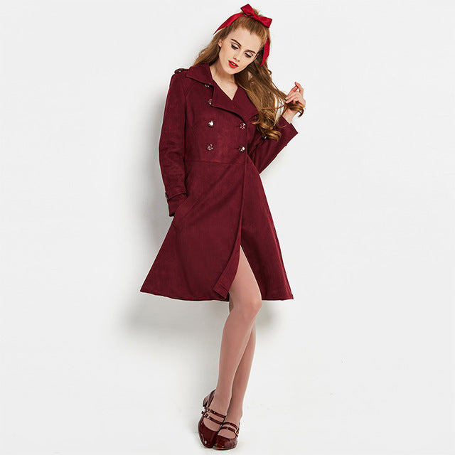 Wine Burgundy Princess Coat