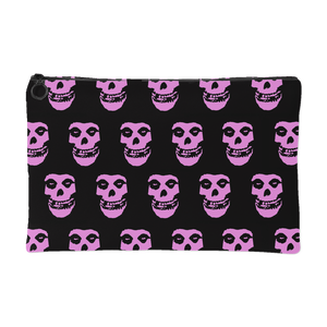 The Misfits Crimson Ghost Pink Print Makeup Bag Accessory Pouch
