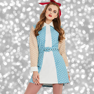Vintage Mod 1960s Polka Dots Mini Dress