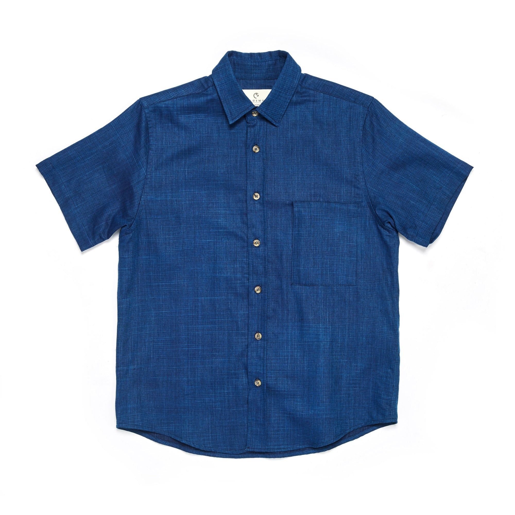 Kaiyo Linen Button Up - Indigo