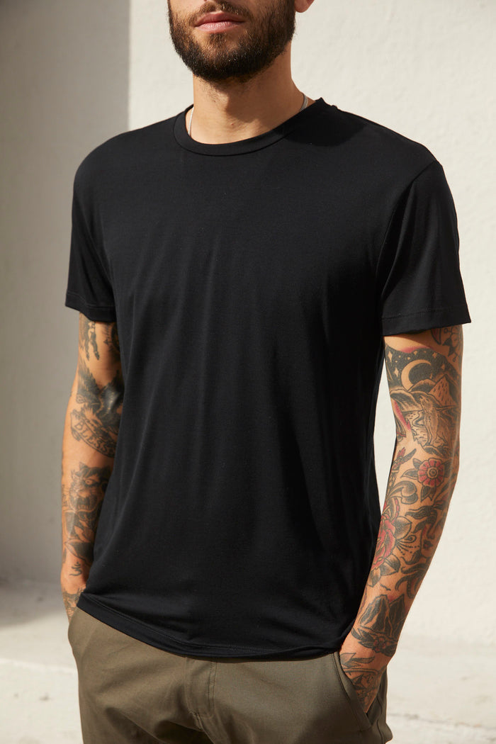 Superfine Merino T-Shirt - Black