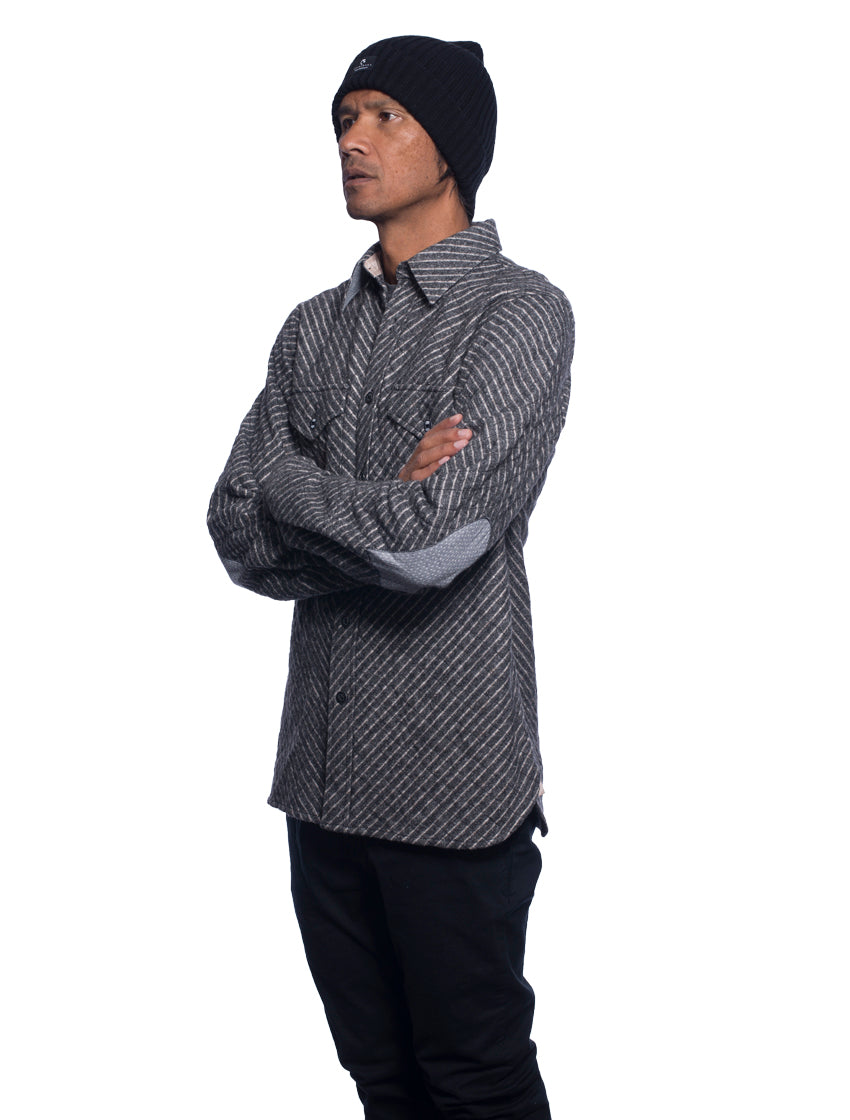 Ikkuma Flannel Shirt-Jacket - Navy