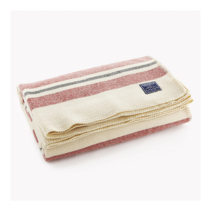 Revival Stripe Wool Throw - Natural and Multi-Stripe