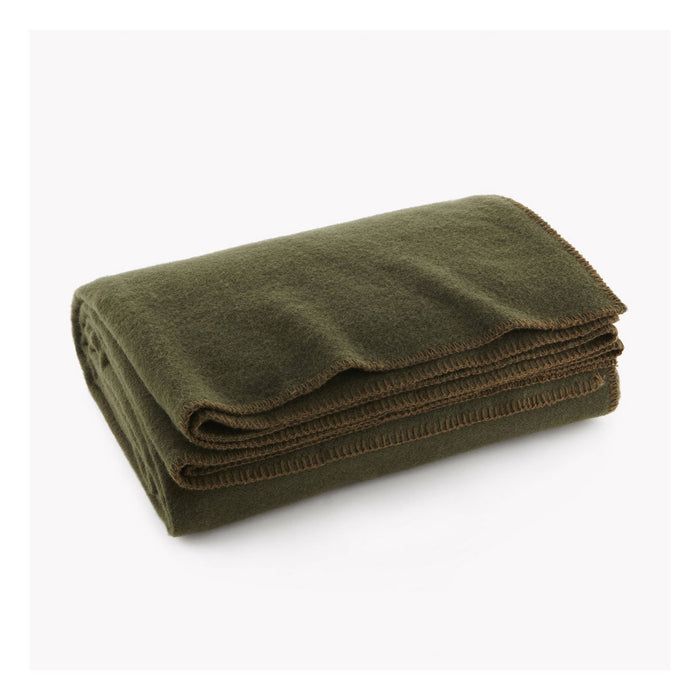 Pure & Simple Wool Blanket in Olive