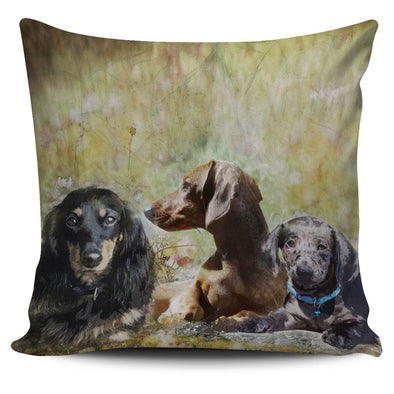 Dachshund Throw Pillow Case - AroMama Essentials