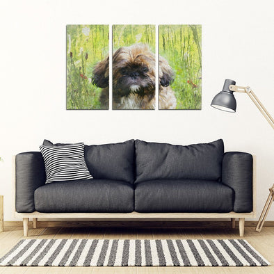 Shih Tzu Lovers 3 Piece Framed Canvas - AroMama Essentials