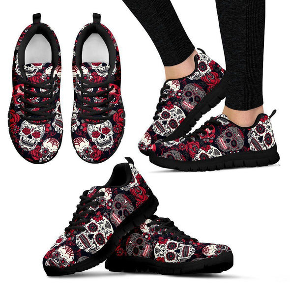 Women's Classic Sugar Skulls Sneakers - AroMama Essentials