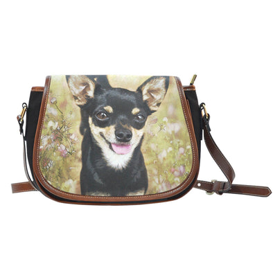 Chihuahua Leather Trim Saddle Bag - AroMama Essentials