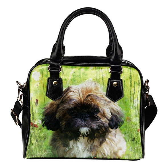 Shih Tzu Lovers Shoulder Handbag - AroMama Essentials
