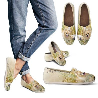Women's Lovely Pomeranian Casual Shoes - AroMama Essentials