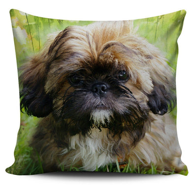 Shih Tzu Lovers Throw Pillow Case - AroMama Essentials