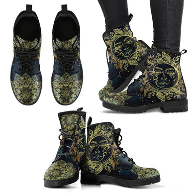 Golden Sun and Moon Women's Handcrafted Boots