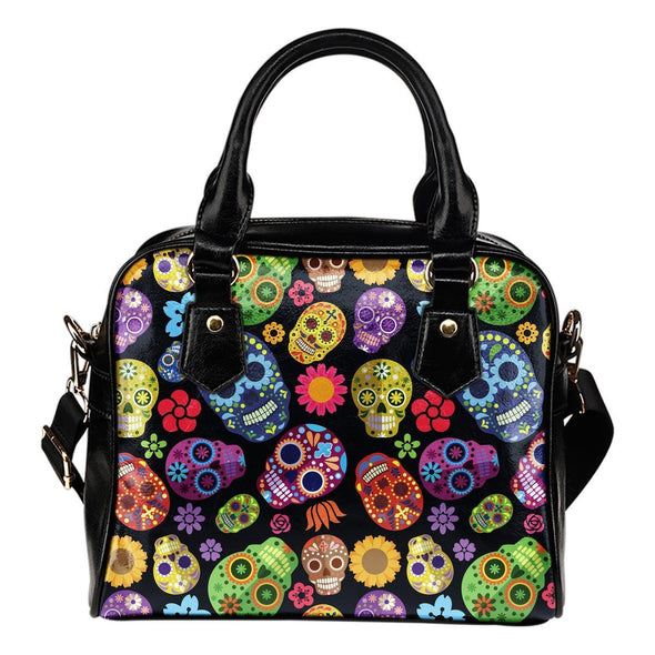 Sugar Skulls Shoulder Handbag - AroMama Essentials
