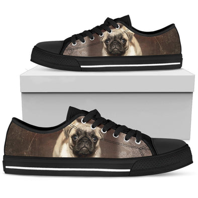Women's Brown Pug Low Top Shoes - AroMama Essentials