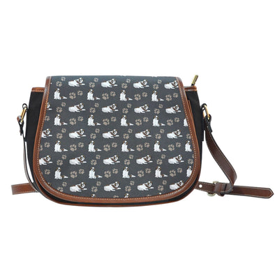 St. Bernard Leather Trim Saddle Bag - AroMama Essentials