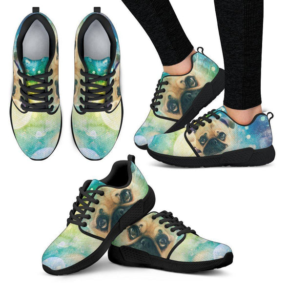 Women's Pug Athletic Sneakers - AroMama Essentials