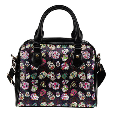Trendy Sugar Skulls Colorful Shoulder Handbag - AroMama Essentials