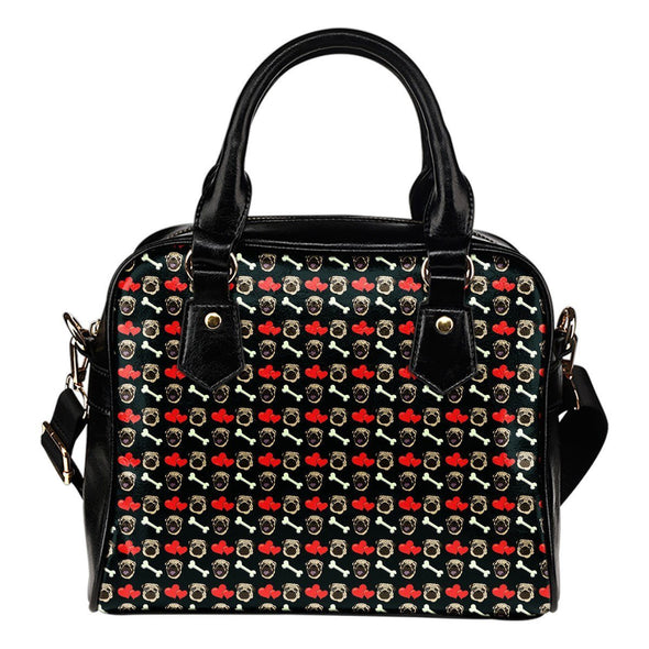 Pug Pattern Shoulder Handbag - AroMama Essentials