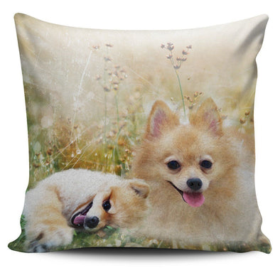 Lovely Pomeranian Throw Pillow Case - AroMama Essentials