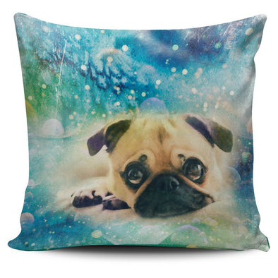 Pug Throw Pillow Case - AroMama Essentials