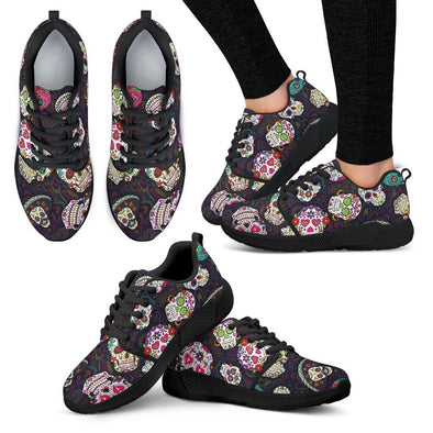Women's Trendy Sugar Skulls Colorful Athletic Sneakers - AroMama Essentials