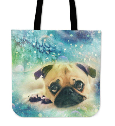 Pug Cloth Tote Bag - AroMama Essentials