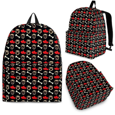 Pug Pattern Backpack - AroMama Essentials