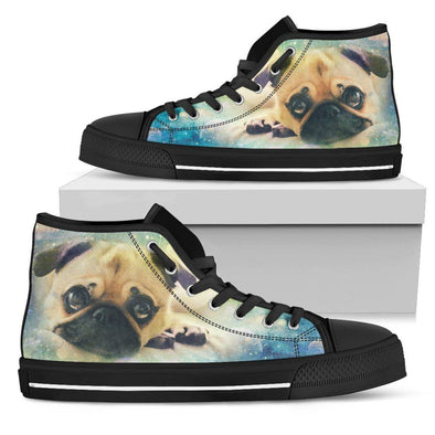 Women's Colorful Pug High Top Shoes - AroMama Essentials