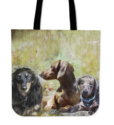 Dachshund Cloth Tote Bag - AroMama Essentials