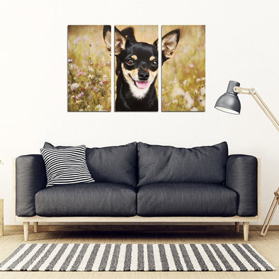 Chihuahua 3 Piece Framed Canvas - AroMama Essentials
