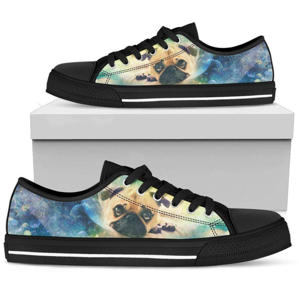 Women's Colorful Pug Low Top Shoes - AroMama Essentials