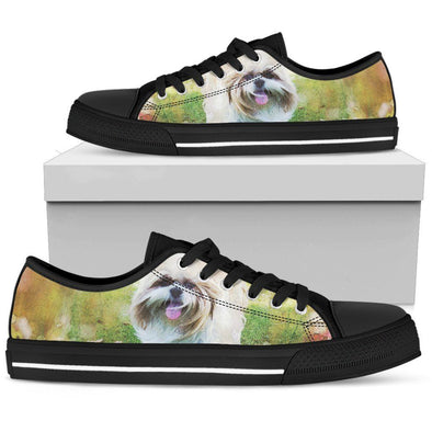 Women's Shih Tzu Low Top Shoes - AroMama Essentials