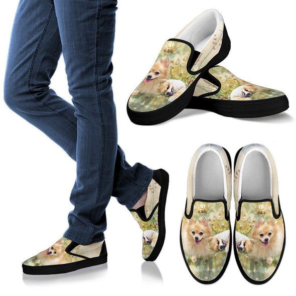 Women's Lovely Pomeranian Slip-On - AroMama Essentials