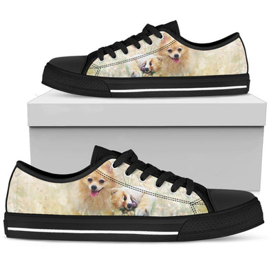 Women's Lovely Pomeranian Low Top Shoes - AroMama Essentials