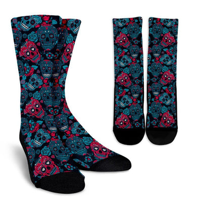 My Sugar Skulls Crew Socks - AroMama Essentials
