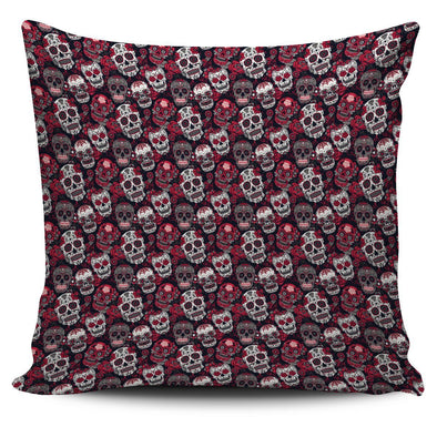 Classic Sugar Skulls Throw Pillow Case - AroMama Essentials