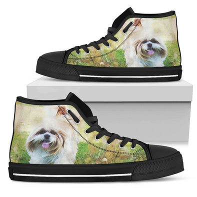 Women's Shih Tzu High Top Shoes - AroMama Essentials