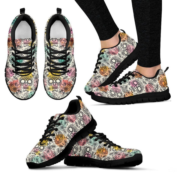 Women's Sugar Skulls I Sneakers - AroMama Essentials