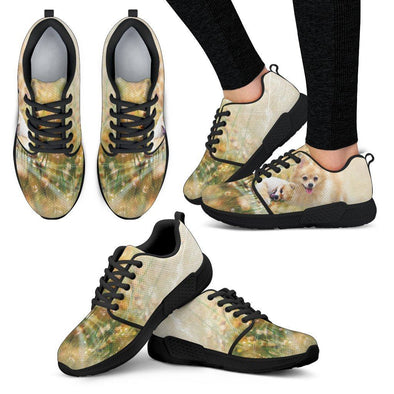 Women's Lovely Pomeranian Athletic Sneakers - AroMama Essentials