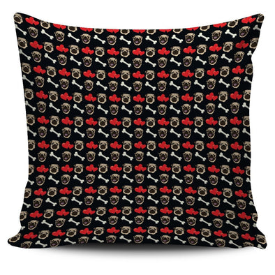 Pug Pattern Throw Pillow Case - AroMama Essentials