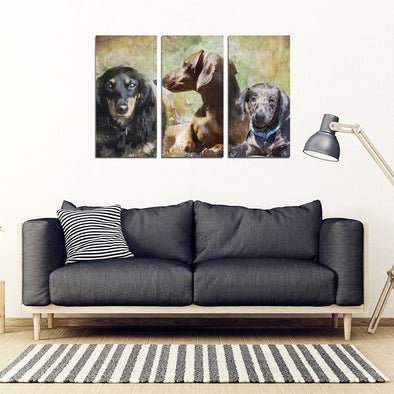 Dachshund 3 Piece Framed Canvas - AroMama Essentials