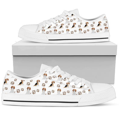 Beagle Low Top Women's Shoes (White)