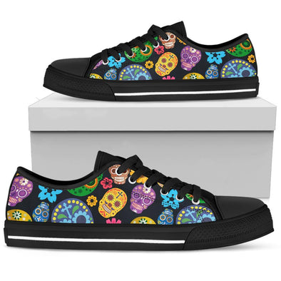 Sugar Skulls Low Top Women's Shoes