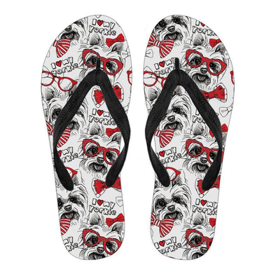 Women's Yorkshire Terrier Flip Flops - AroMama Essentials
