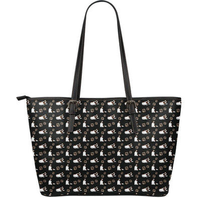 St. Bernard Large Leather Tote Bag - AroMama Essentials