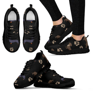 Women's Dachshund Pattern Sneakers - AroMama Essentials